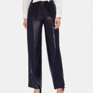Vince Camuto allover sequin wise leg pants navy